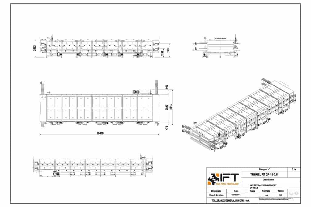 Tunnel IFT Inox Food Technology disegno tecnico