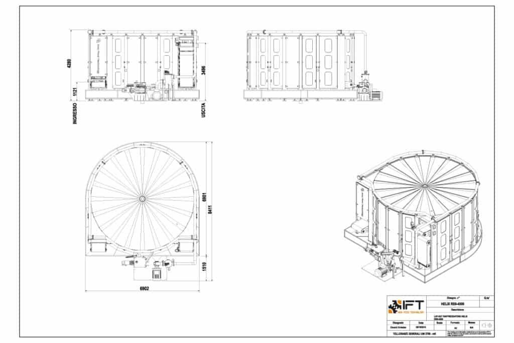 Helix IFT Inox Food Technology disegno tecnico