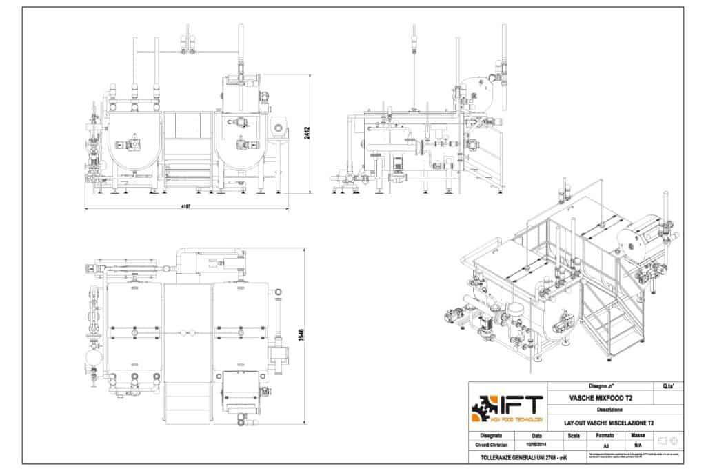 MixFood IFT Inox Food Technology disegno tecnico