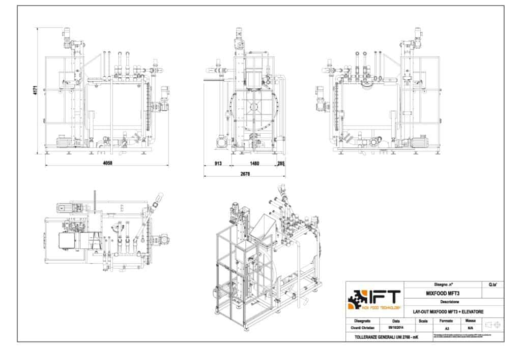 MixFood IFT Inox Food Technology disegno tecnico